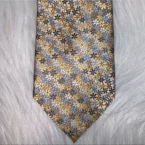 Stafford yellow polyester tie D